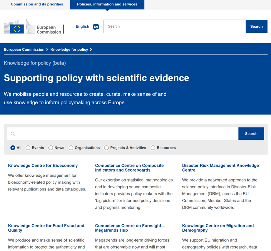 Knowledge4Policy platform for evidence-based policymaking