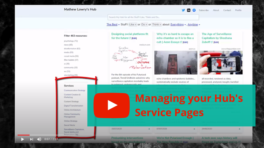 FAQ: What are Service Pages, and How do I Manage them?