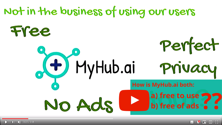 FAQ: How is MyHub.ai free and without ads? What is your business model?