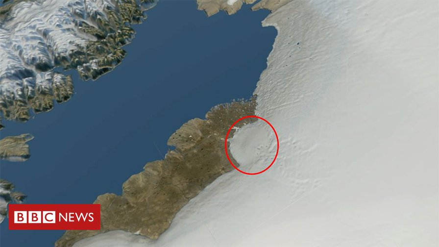 Greenland ice sheet hides huge 'impact crater'