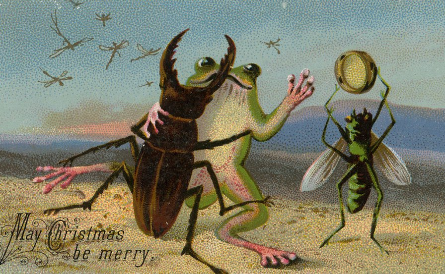 Have a Creepy Little Christmas with These Unsettling Victorian Cards
