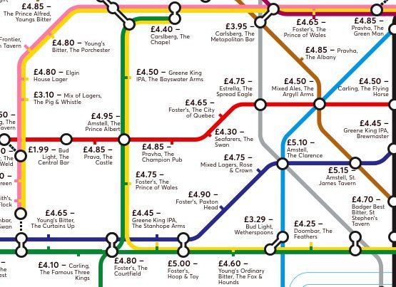 Pint Price Map: The Cheapest Pints Next To Every Tube Station